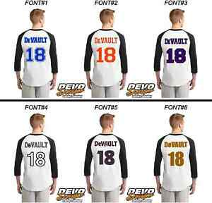 "4/"" Tall Iron-On Number for Football Baseball Jersey Sports T-Shirt Style #4"