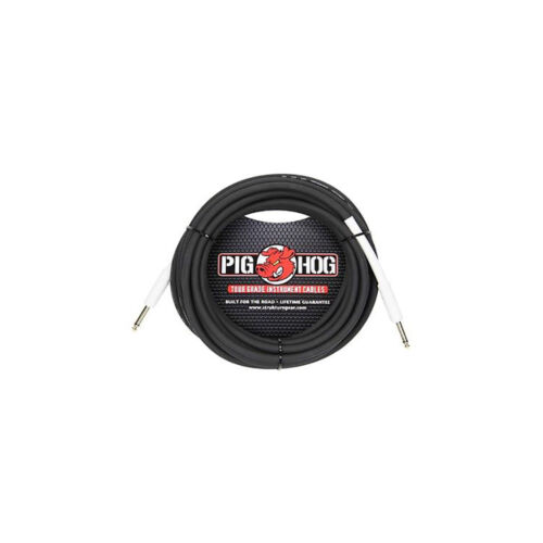 "Pig Hog PH186 1//4/"" Inch 8mm Instrument Guitar Bass Cable 18.5ft"
