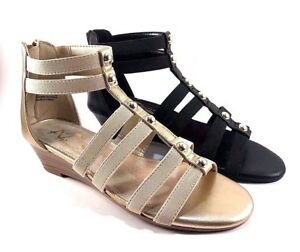 0996938e465 A2 by Aerosoles Here We Go Low Wedge Gladiator Sandals Choose Sz ...