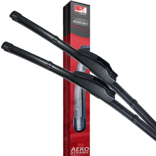 "Fit Kia Rio Pregio Front Windscreen 18/"" 21/"" Flat Aero Wiper Blades Twin Set"