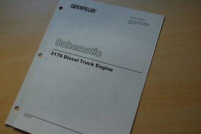 cat caterpillar 3176 truck engine electrical schematic wiring diagram  manual | ebay  ebay