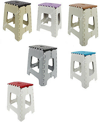 Freundschaftlich Plastic Folding Step Stool Multi Purpose Heavy Duty Foldable Ladders Large Small Hohe QualitäT Und Preiswert
