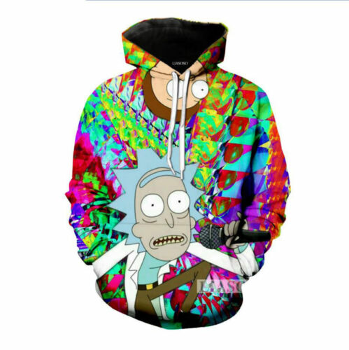 New Women Men Cartoon Cartoon Print Casual 3D Hoodies Sweatshirt Pullover