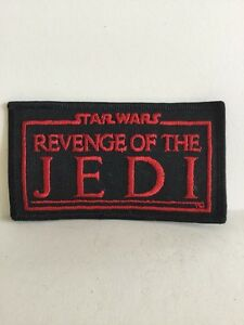 Star Wars Revenge of the Jedi Movie Name Logo Embroidered