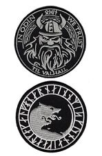 Viking Odin Úlfhédnar No Mercy Only Violence Wolf Odin We Trust  2pc Hook Patch