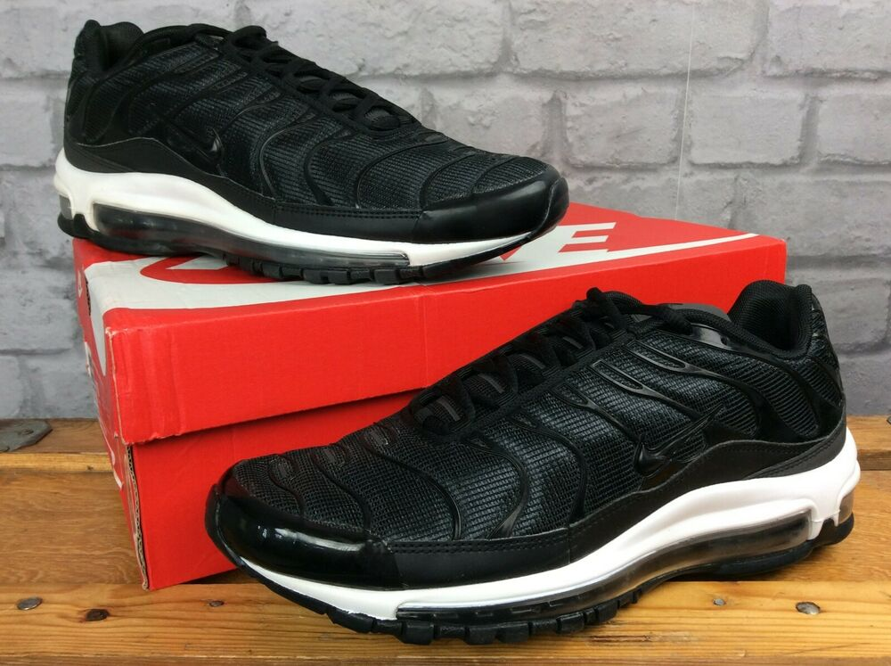 Nike Homme Uk 7.5 Eu 42 Air Max 97/tune Avec Up Noir Blanc Baskets