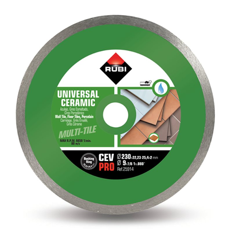 Rubi CEV Superpro Diamond Blade Electric Wet Saw Tiling Blade