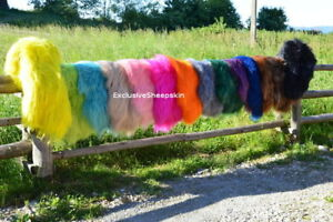 Dyed-Icelandic-Genuine-Sheepskin-rug-Sheep-skin-16-color-soft-long-wool