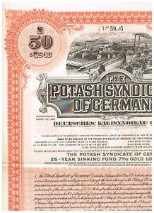 Potash-Syndicate-of-Germany-1925-Gold-Loan-LB-50