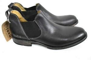 Bed-Stu-Royce-Men-039-s-Black-Chelsea-Dip-Dye-Ankle-Leather-Boots-Size-10-5