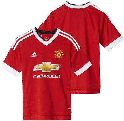 Adidas Manchester United MUFC 2015/16 Boys Kids Football Shirt Team Top Kit New