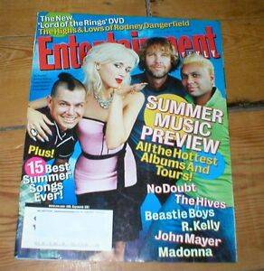 ENTERTAINMENT WEEKLY magazine NO DOUBT The Hives Beach Boys R Kelly GWEN STEFANI - <span itemprop=availableAtOrFrom>Skipton, North Yorkshire, United Kingdom</span> - ENTERTAINMENT WEEKLY magazine NO DOUBT The Hives Beach Boys R Kelly GWEN STEFANI - Skipton, North Yorkshire, United Kingdom