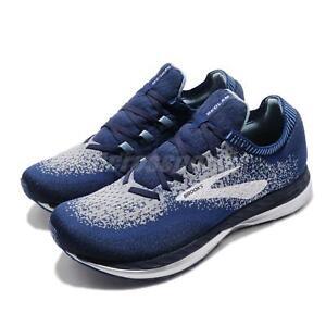 Brooks Bedlam Blue Navy Grey Men Running Training Shoes Sneakers 110283 1D