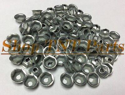 100pc Washer Lock Trim Nuts Thread Cutting #8-32 Zinc Coated Pal Nut Mopar