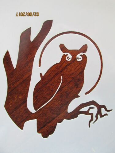Owl Stencil Reusable 10 mil Mylar Stencil