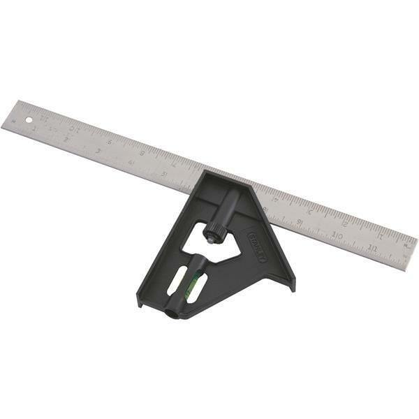(3)-Stanley 12  Plastic Handle Steel Blade English Combination Square 46-012