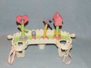 American Girl Doll Bitty Baby Purple Bird from Stroller Bar Toy Car Seat  Set