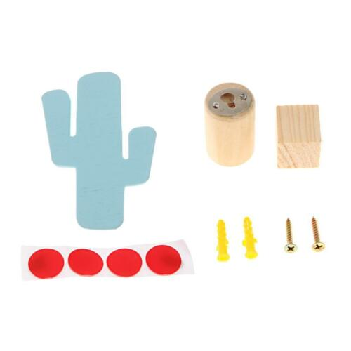 Creative Strong Wooden Hook Clothes Hat Jewelry Hanger in Flamingo//Cactus Design