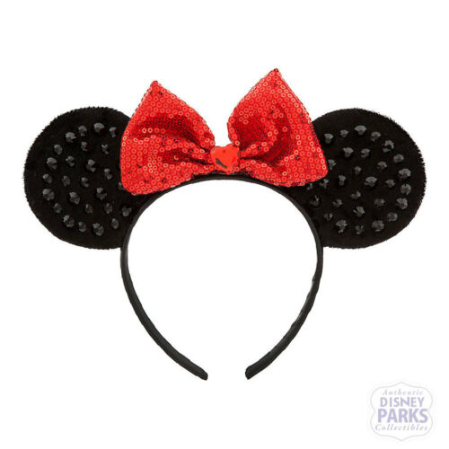 Authentic Disney Parks Collectibles Minnie Mouse Ears Headband for Kids Red Bow