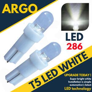 Super-Bright-T5-286-Led-Xenon-White-Dashboard-Bulbs-Speedo-Wedge-Bulb-Lights-12v