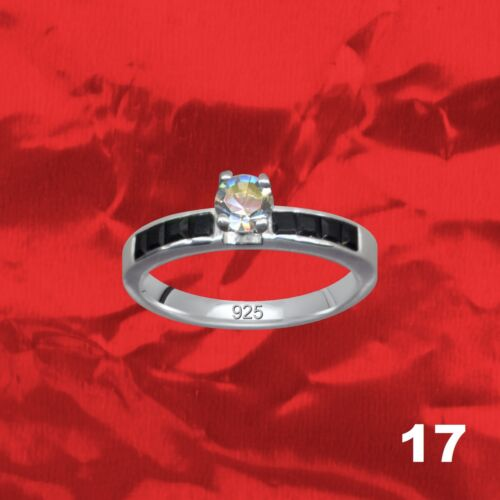 Extravagante Silberringe Echt 925 Sterlingsilber Schmuckring Zirkonia Stein