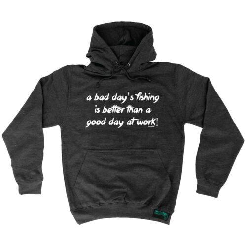 Bad Day Fishing Better Than Work Drowning Worms HOODIE hoody birthday gift fish