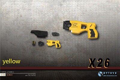 1//6 Scale ZYTOYS X26 Taser Black Pistol Assembled Gun Mini model 4~5cm