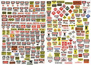 Details about JL Innovative Designs HO Scale Detail Parts - Road Signs  Danger/Warning (250)