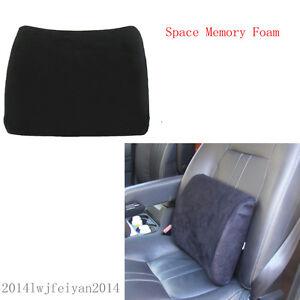car seat memory foam lumbar support cushion lower back pain relief comfort mat ebay. Black Bedroom Furniture Sets. Home Design Ideas