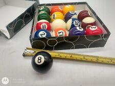 Set of 16 Miniature Small Mini Pool Balls Billiard Hot 0.98 ^F