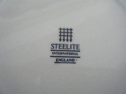 C4 ceramica Steelite Bianco Nero Linea Plate 25 cm 1C6B