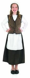 Anglo-Saxon-Tudor-Medieval-Girl-Peasant-Costume-Complete-Outfit-New-4-6-8-10-12