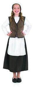 Anglo-saxon-Tudor-Costume-Fille-Medieval-paysan-ensemble-complet-nouveau-4-6-8-10-12