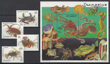 Somalia (Soomaaliya) - Michel-Nr. 705-708 + Block 52 postfrisch/** (Krebse /Crab