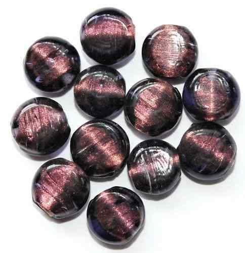 Argent 18 Diapositive De Perles De Verre Pièces 11 Mm Violet Ac9-04