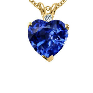 1-80-CT-14CT-YELLOW-GOLD-OVER-HEART-SHAPE-BLUE-SAPPHIRE-PENDANT-CHAIN