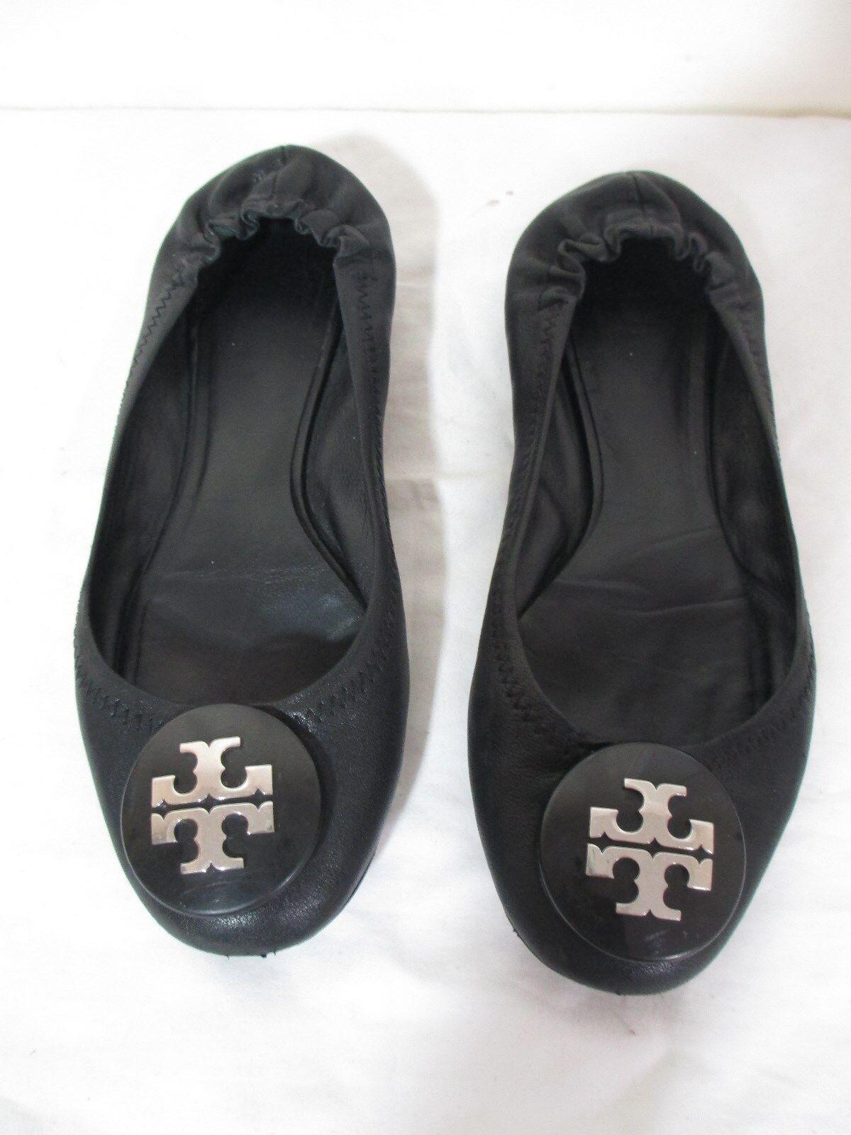 Tory Tory Tory Burch Mujeres Cuero Negro Zapatos De Ballet Zapatos sin Taco Sin tamaño 6.5 M  nuevo listado