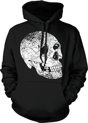 Skull Cracked Skeleton Death Dying Gothic Hoodie Pullover