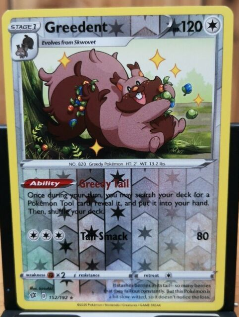 Pokemon Greedent - Rebel Clash 152/192 Rev. Holo Rare *