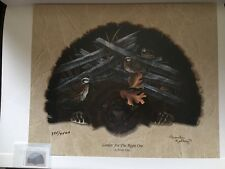 """QUAIL UNLIMITED Print # 395/4500 Pamela Kelley """"Looking For The Right One"""""""