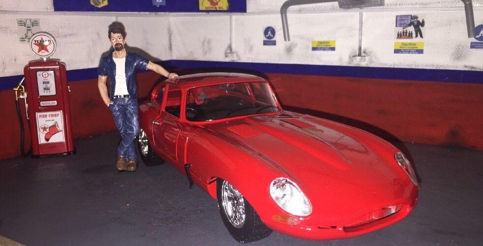 1 18 Jaguar E Type Cabriolet Red 1 18 Diecast Classic Car ((Low Drag GT))