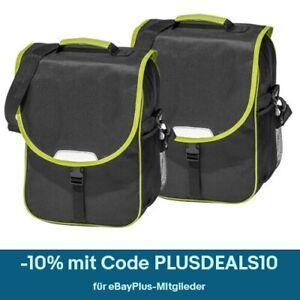 4Uniq Fahrradtasche Hecktasche Gepäck Tasche schwarz/limette 2er Set 16J030-B04