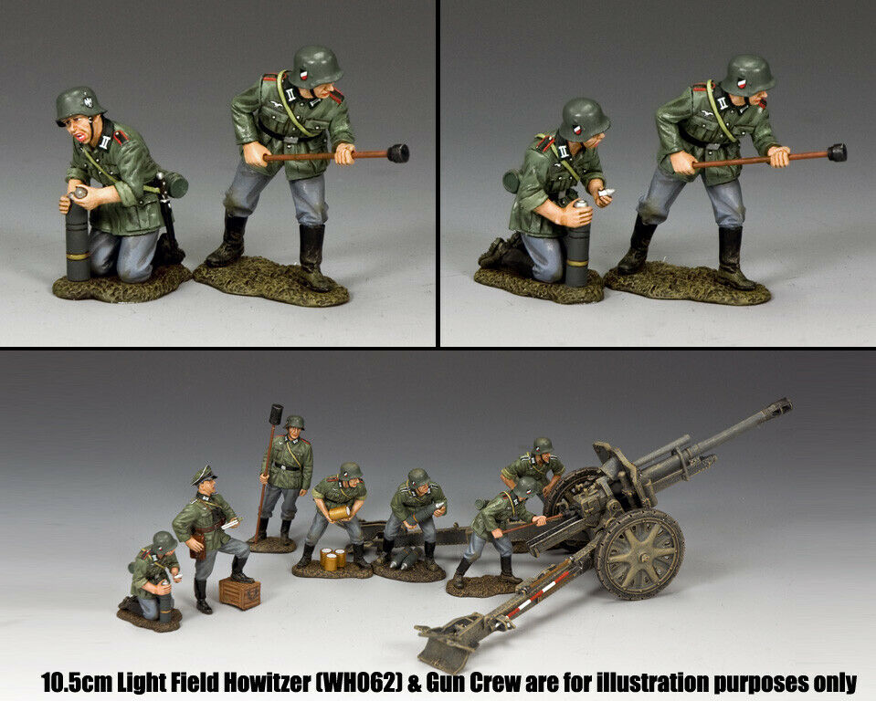 KING & COUNTRY WW2 GERMAN ARMY WH073 ADDITIONAL ARTILLERY CREW MIB