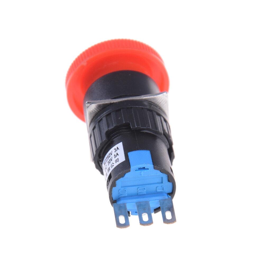 10Pcs PBS-11A Rot//Grün AC 250V 3A 12mm Selbstverriegelnder Druckknopfschalter  ^