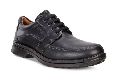 ECCO Men/'s 500104 Fusion II Black Leather Lace Up Casual Shoe *NEW*