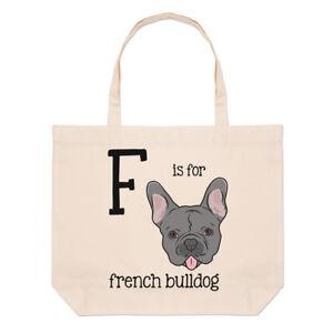 tout Grand Pour Alphabet Plage Drôle F Bulldog French Lettre Fourre Sac Épaule C85IwcqUn