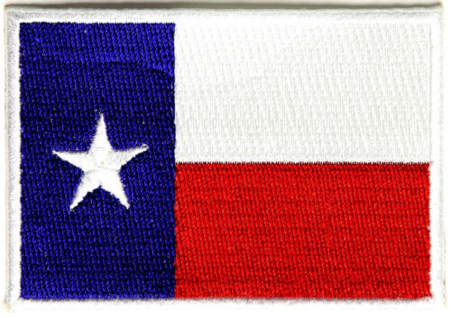 3x2 inch P2080W Free Ship By Ivamis Trading Texas Flag White Border Patch