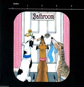 NEW-GREYHOUND-DOG-PAINTING-LAMINATED-BATHROOM-OR-LOO-DOOR-SIGN-SUZANNE-LE-GOOD