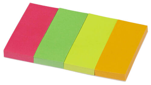 Haftmarker Haftstreifen Haftnotizen 4x 40 Streifen pagemarker farbsortiert