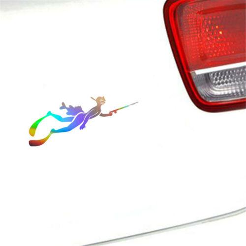 2PCS Scuba Diver Sport Diving Vinyl Decal Car Window Removable Wall Stickers